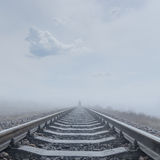 Railroad to horizon Stock Photos
