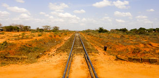 Railroad to Mombasa. Kenya. Africa Royalty Free Stock Images