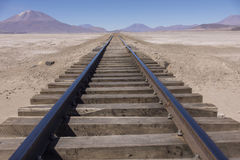 Railroad to nowhere Stock Image
