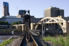 Railroad to Saint Paul Stock Image