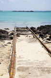 Railroad to the sea Stock Photos