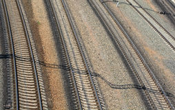 Railroad from the top. Background Royalty Free Stock Photo