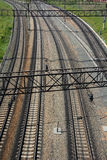 Railroad from the top. Background Stock Image