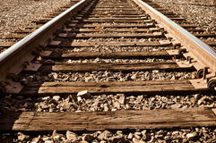 Railroad Track. Old Rustic Railroad Track with wooden planks Stock Photography