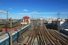 Railroad track. In urban landscape in asia Stock Image