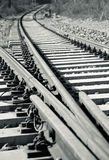 Railroad track. A shot of railroad track Royalty Free Stock Photography
