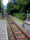 Railroad Track. On the mountain, Japan royalty free stock photos