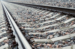 Railroad track. Railroad track vanishing into the distance Stock Photo
