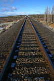 Railroad track. Train track extending into the distance Royalty Free Stock Photography
