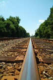 Railroad track. Long view of railroad track royalty free stock images