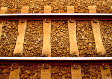 Railroad Track. An upclose shot of a railway track Royalty Free Stock Photography
