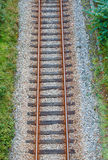 Railroad track from above Royalty Free Stock Image