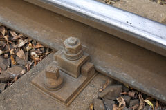 Railroad track bolt as background. Stock Photography
