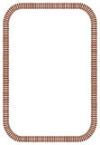 Railroad Track Border. A railroad track border made using a pattern brush. Brush can be used to fit the border to any shape. To flatten in Illustrator go to vector illustration