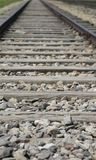Railroad track that carried the trains. To the concentration camp Royalty Free Stock Photo