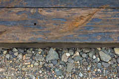 Railroad Track Closeup Background Stock Image