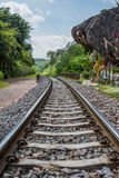 Railroad track at countryside, saraburi. Stock Images