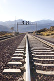 Railroad track in the Desert Royalty Free Stock Images