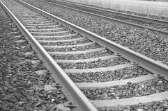Railroad track detail Stock Images