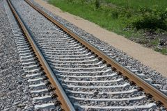 Railroad Track. That have been decommissioned in Germany Royalty Free Stock Photo