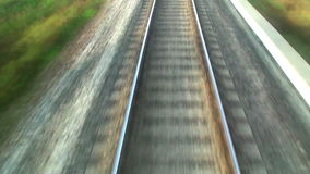Railroad track at high speed Stock Photography