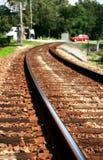 Railroad track I. Railroad track's view in Seminole County, Florida Royalty Free Stock Photo