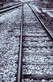 Railroad track monochrome Royalty Free Stock Images