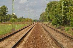 Railroad Track Pair Royalty Free Stock Photo