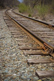 Railroad track perspective Royalty Free Stock Images