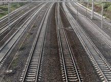Railroad track perspective Stock Photo