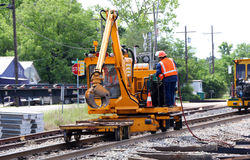Railroad Track Repair Stock Photo