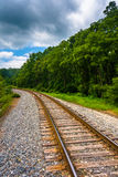 Railroad track in rural Carroll County, Maryland. Stock Photography