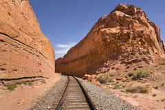 Railroad Track. In the Southwestern United States, Utah, USA royalty free stock image