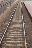 Railroad Track and Station Platform in Poland Stock Photography