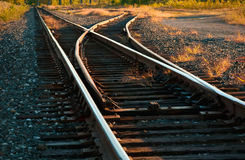 Railroad Track Switch Royalty Free Stock Photography