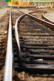 Railroad Track Switch Stock Photography