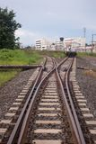 Railroad Track Switch royalty free stock images