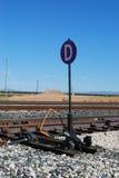 Railroad track switcher Stock Photos