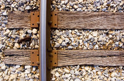 Railroad track and ties Royalty Free Stock Images