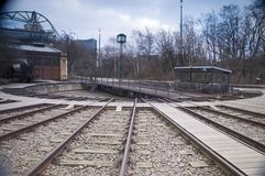 Railroad Track Turntable Royalty Free Stock Images