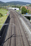 Railroad track, view from above Stock Image
