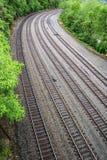 Railroad Tracks – Railyard. Railyard with multiple railroad tracks Stock Photography