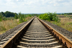 Railroad tracks. Railroad track vanishing into the horizon Royalty Free Stock Photography