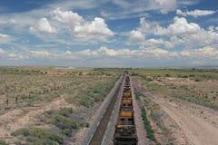 Railroad tracks. Trains on the railroad tracks Stock Photo