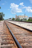 Railroad tracks. And blue sky Royalty Free Stock Image