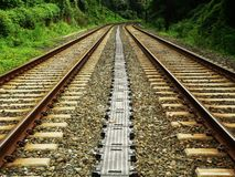 Railroad tracks. Converging stock photography