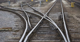 Railroad Tracks. Full Frame of Railroad Tracks Royalty Free Stock Photo
