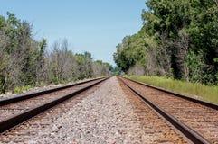 Railroad Tracks. Shot these railroad tracks in Galena, Illinois Royalty Free Stock Photos