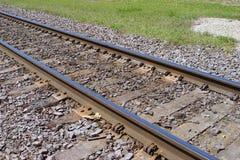 Railroad tracks. A background of railroad tracks royalty free stock photo