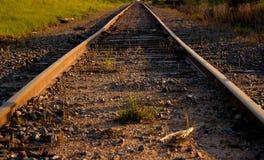Railroad tracks. Full frame shot of railroad tracks Stock Image
